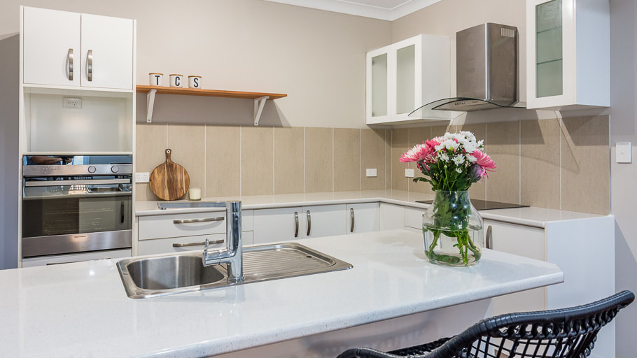 Real Estate Photography Ipswich house kitchen at night