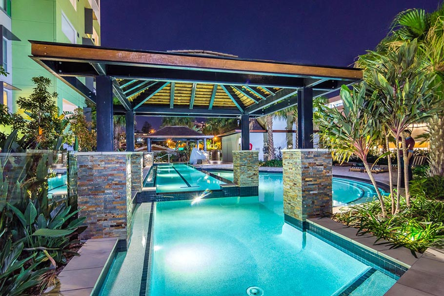 Apartment Resort Pool photography Brisbane by Banksia Images