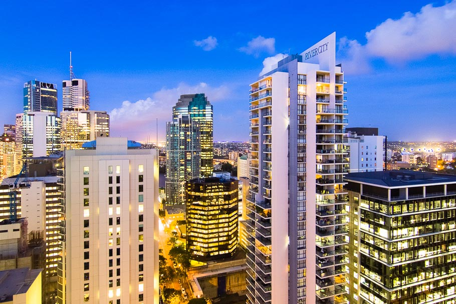 Brisbane City Skyline Twilight by Banksia Images