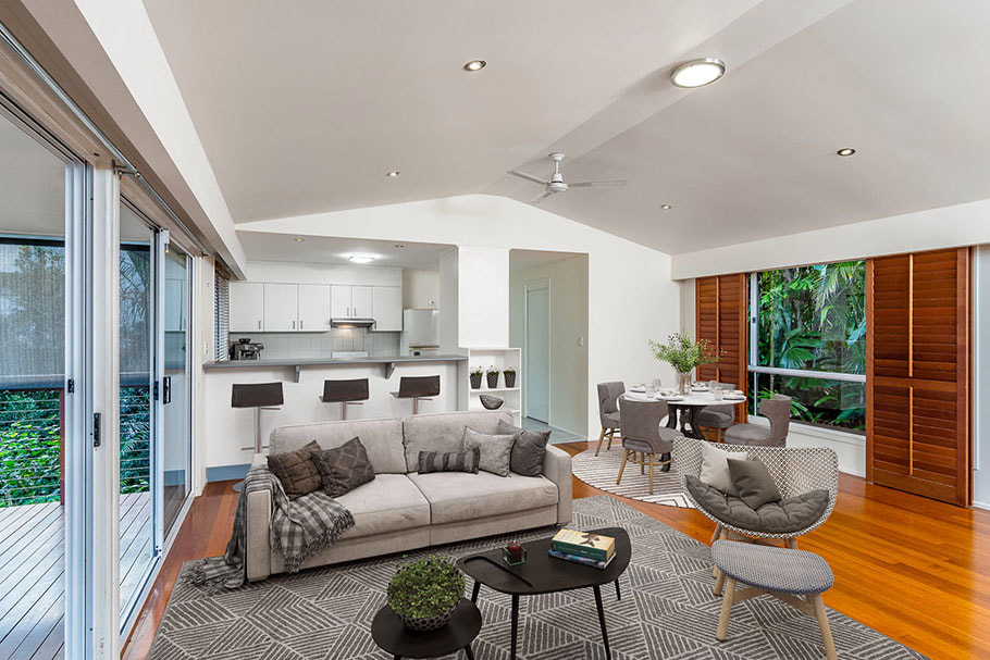 Brisbane family room with virtual furniture staging Picture