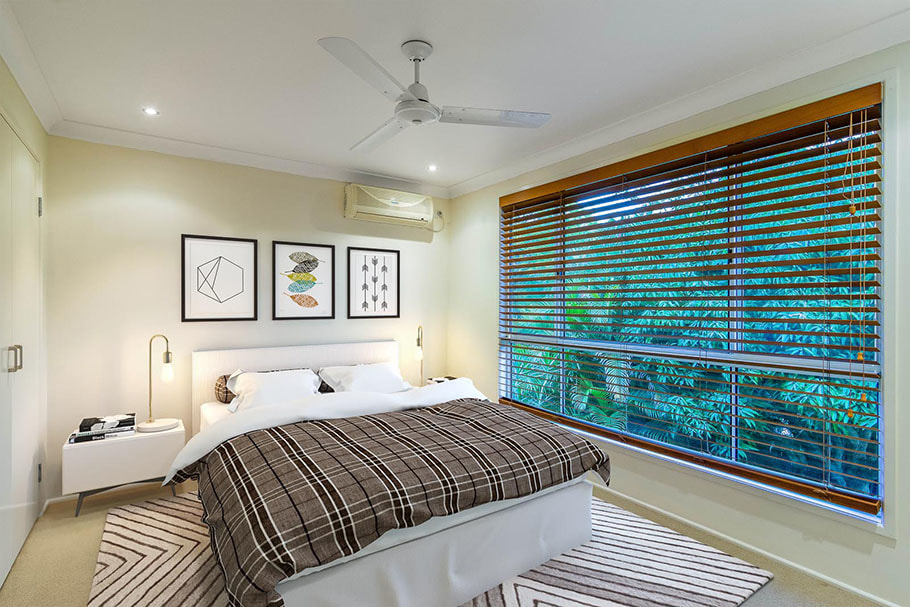 Brisbane bedroom with virtual furniture staging